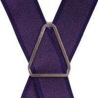 Подтяжки мужские фиолетовые - Фото 2