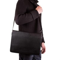 """Мужская кожаная сумка-почтальонка с отделением для ноутбука 11,6-12"""" ROCKFELD - Фото 9"""