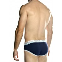 Andrew Christian slip 3stripes blue - Фото 2