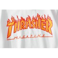 Thrasher футболка белая - Фото 3