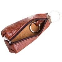 Кожаная коричневая ключница DESISAN - Фото 3