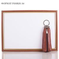 Кожаная коричневая ключница DESISAN - Фото 4