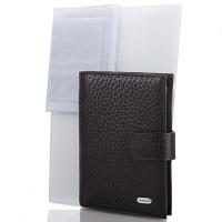 Мужской кожаный кошелек с органайзером для документов DESISAN