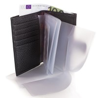 Мужской кожаный кошелек с органайзером для документов DESISAN - Фото 4