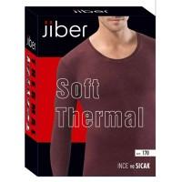 Термокофта мужская Jiber О-вырез бордовая 170 - Фото 1
