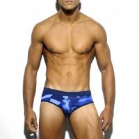 Мужские плавки хаки синие 4701
