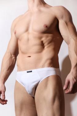 Мужские слипы спорт Atlantic bmp322 белые
