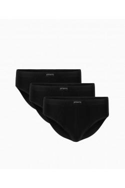 Классические слипы Atlantic комплект из 3 ед 3mp006 черные