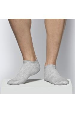 Ультракороткие носки Atlantic MSC012 серые