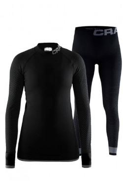 Женский термокомплект Craft для зимнего спорта черный