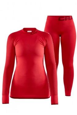 Женский термокомплект Craft для зимнего спорта красный