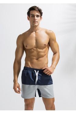 Длинные шорты для плаванья DEENYT синие 2188