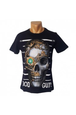 Черная футболка с черепом