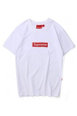 Supreme белая футболка