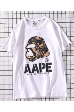 Bape футболка мужская белая