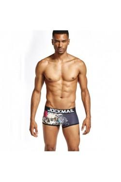 Jockmail boxer print black