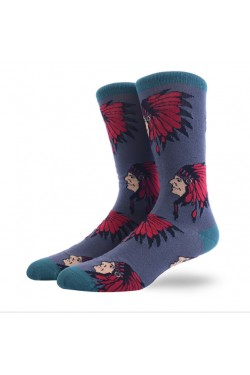 Мужские носки с индейцами