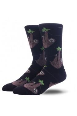 Мужские носки с ленивцами