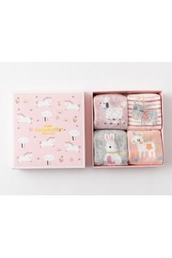 Носки детские в коробке набор 4 шт.