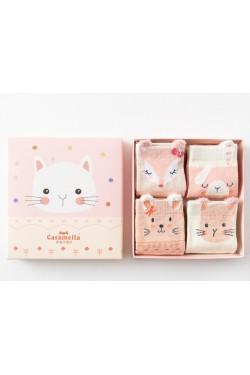 Носочки розовые детские набор