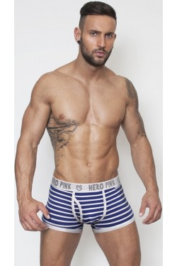 Pink Hero boxer strips blue