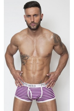 Pink Hero boxer strips purple