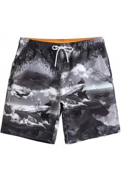 Пляжные мужские шорты GAILANG с принтом