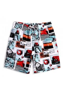 Пляжные мужские шорты Qike с принтом