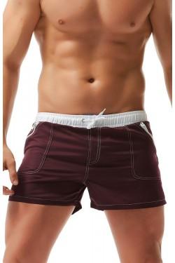 Мужские пляжные шорты  Aqux бордо