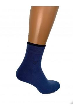 Термоноски с махровой стопой синие Jiber 5801