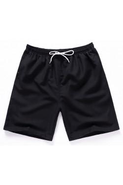 Летние шорты с карманами черные 4121