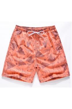 Мужские пляжные шорты с принтом 4122